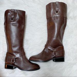 Lauren Ralph Lauren Dark Brown Mesa Riding Boots